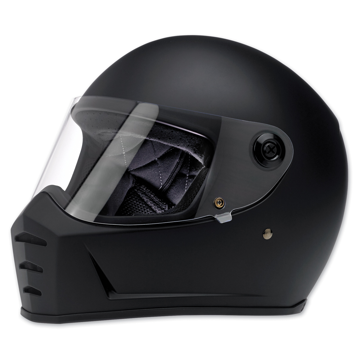 Bell custom 500 gloss black vintage low profile helmet chopper harley - Biltwell Inc Lane Splitter Flat Black Full Face Helmet