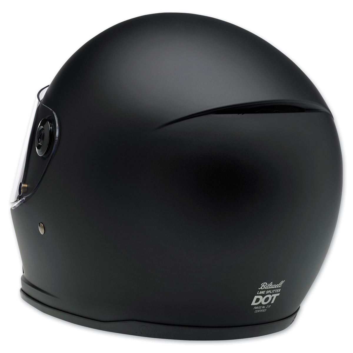 Biltwell Inc LANE SPLITTER Retro-Style Motorcycle Helmet XL Flat Black