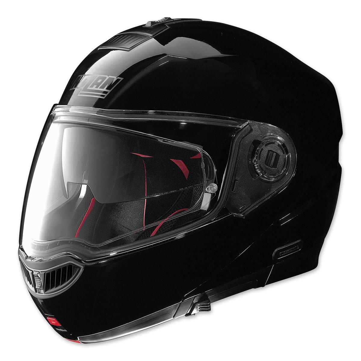 nolan n104 absolute gloss black full face helmet 914 035 j p cycles. Black Bedroom Furniture Sets. Home Design Ideas