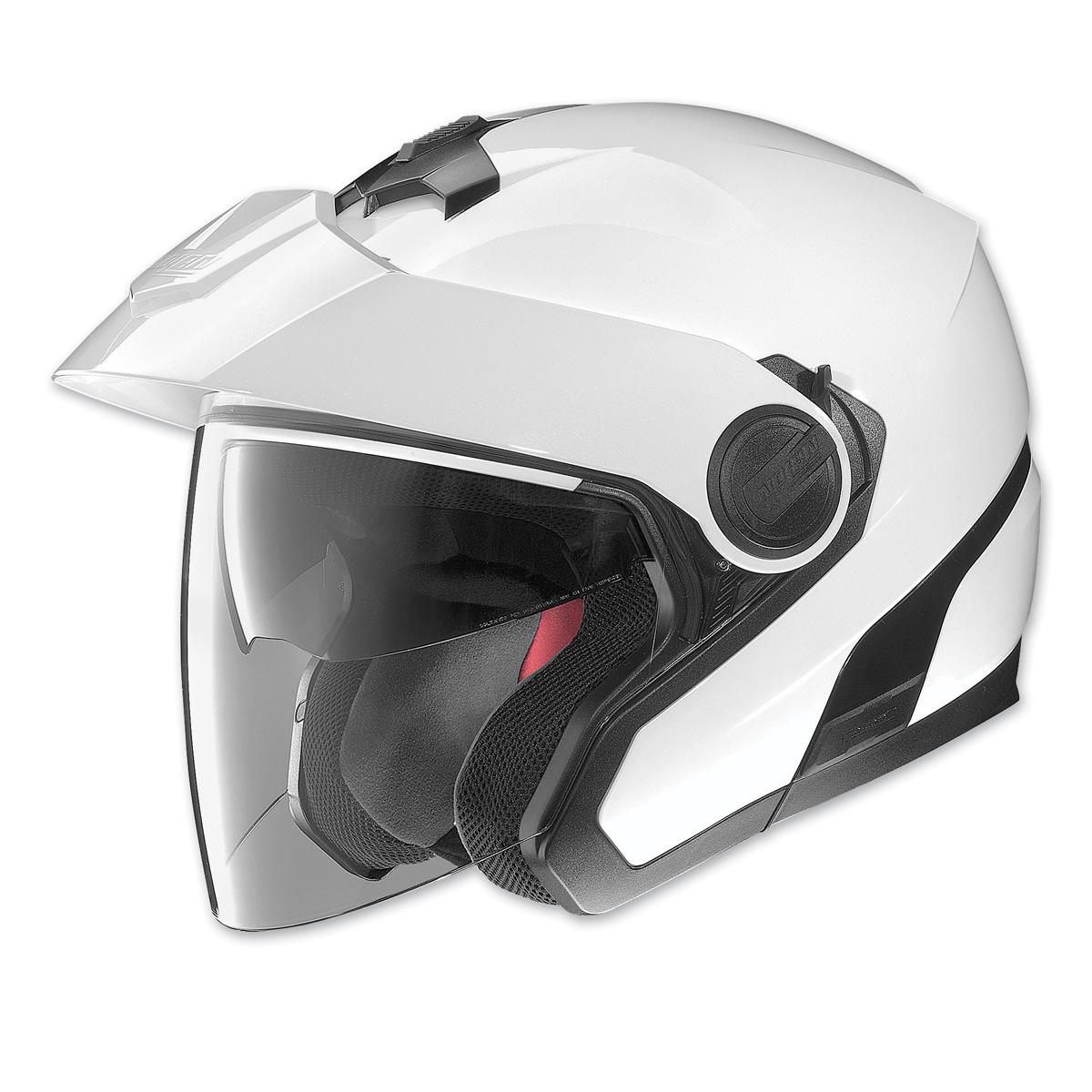 Nolan N40 Metallic White Open Face Helmet