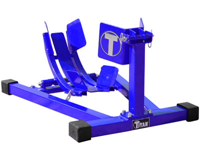 Titan Lifts Blue Bulldog Moto Cradle Wheel Chock