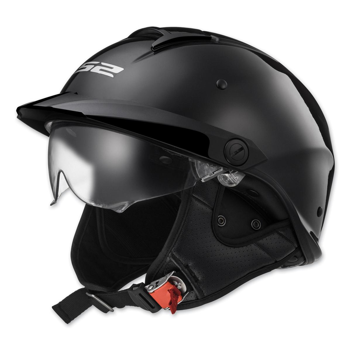 LS2 Rebellion Gloss Black Half Helmet