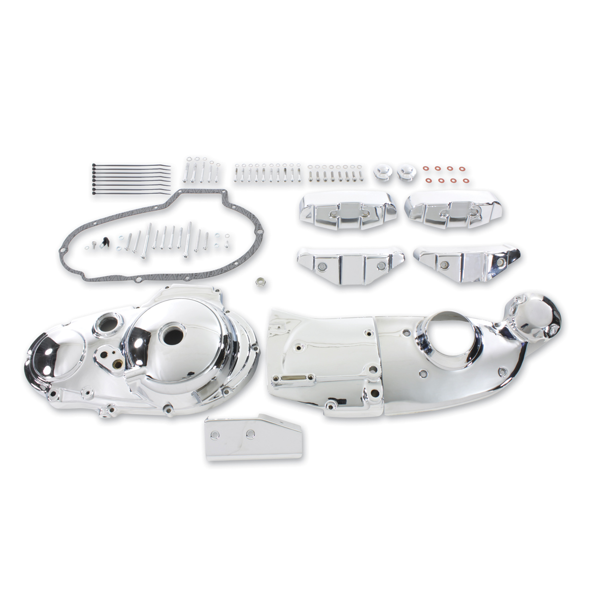 V-Twin Manufacturing Chrome Dress Kit with Dress Covers