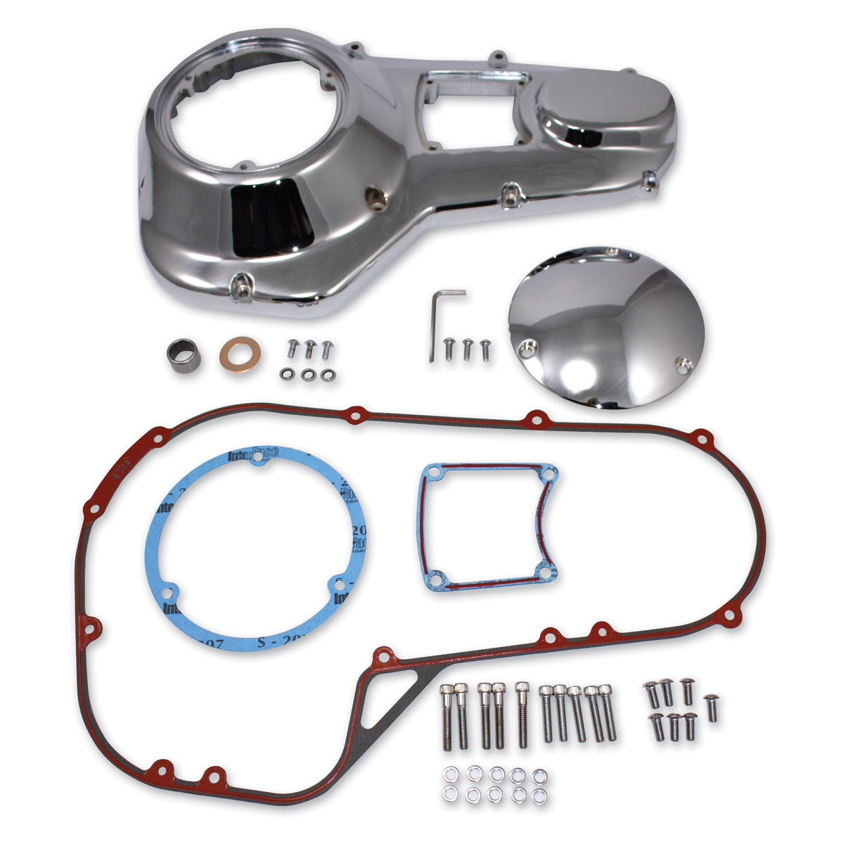 Chrome Primary Cover Kit for Harley Davidson by V-Twin