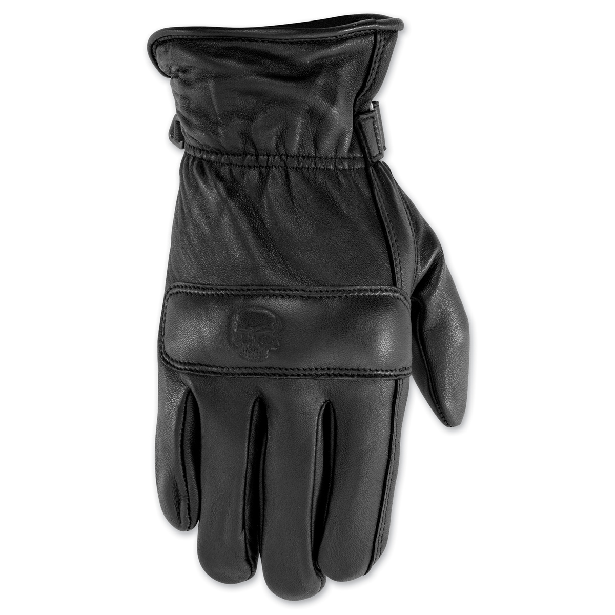 Black Brand Men's Rally Black Leather Gloves