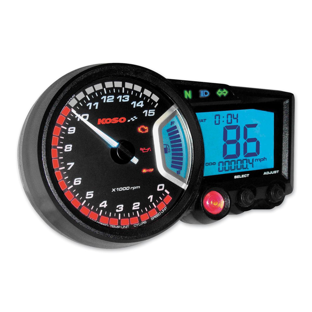 Koso RX-2 GP Style Speedometer