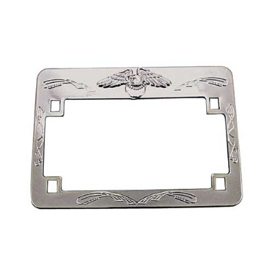 EMGO Chrome Eagle License Plate Frame