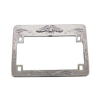 EMGO Chrome Eagle License Plate Frame