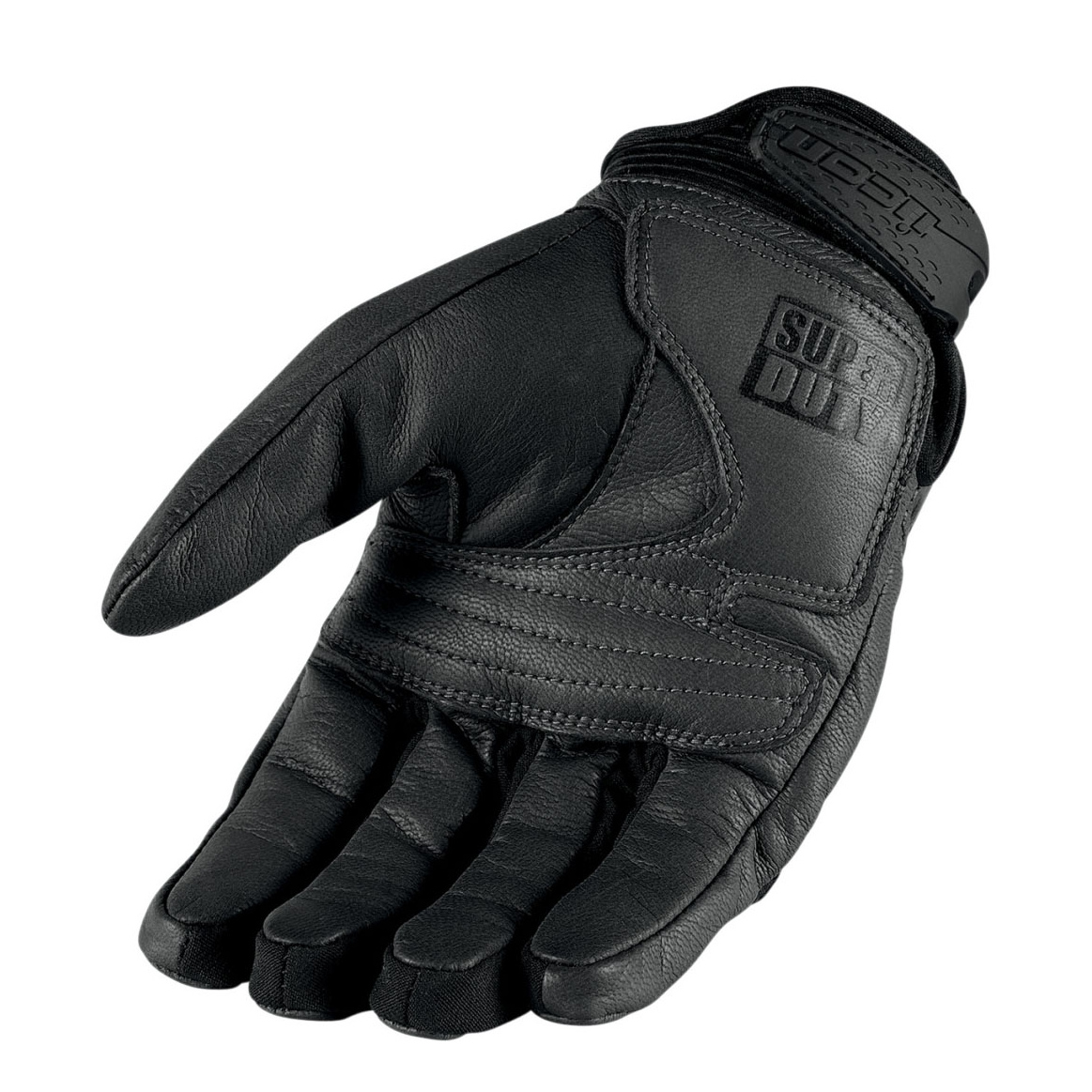 NEW Icon Mens Super Duty 2 Leather Armored Motorcycle Gloves BLACK  All Sizes