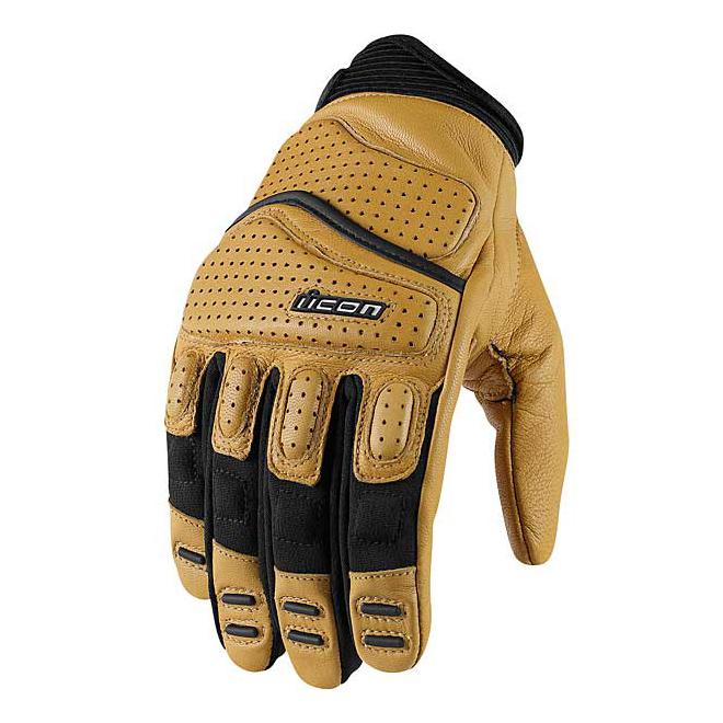 ICON Men's Super Duty 2 Tan Leather Gloves