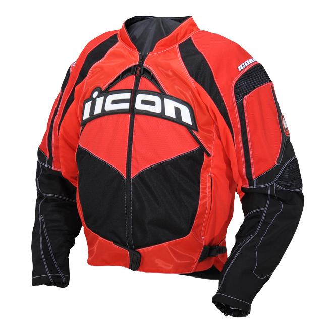 ICON Men's Contra Red Textile Jacket