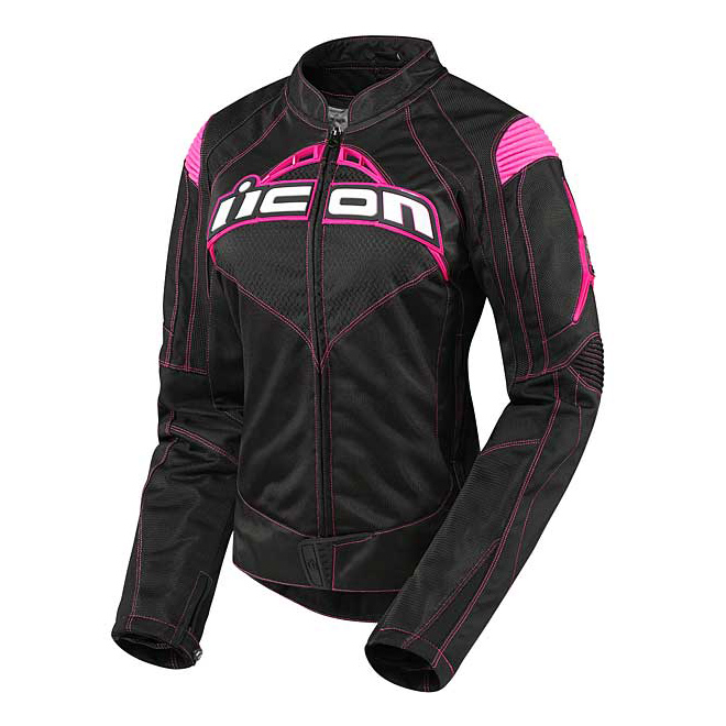 ICON Women's Contra Black/Pink Textile Jacket