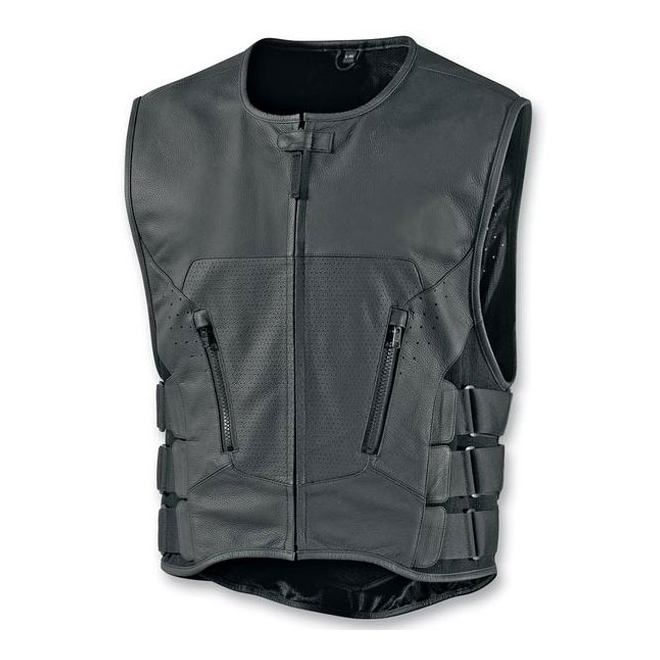 ICON Men's Regulator Stripped Black Vest