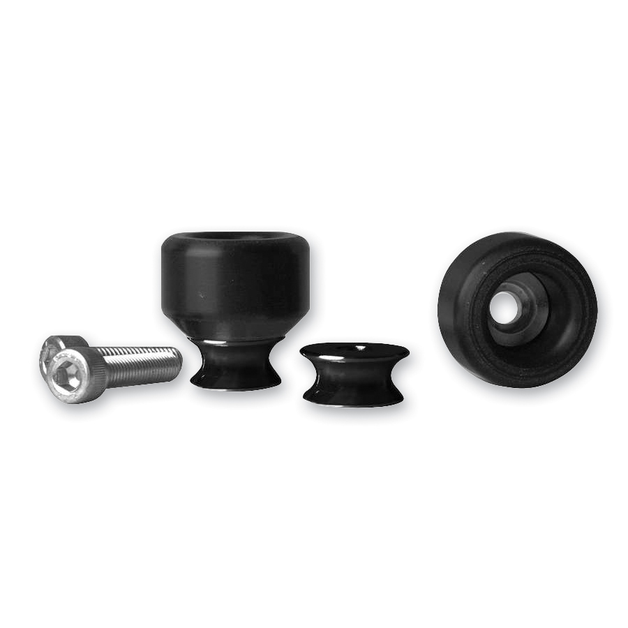 Vortex Swingarm Slider Spools Black | 974-566 | J&P Cycles