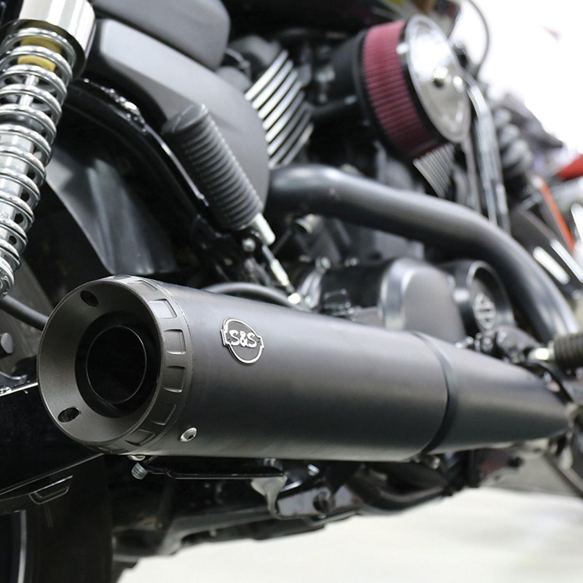 S&S Cycle Grand National Black Slip-On Muffler - 550-0703