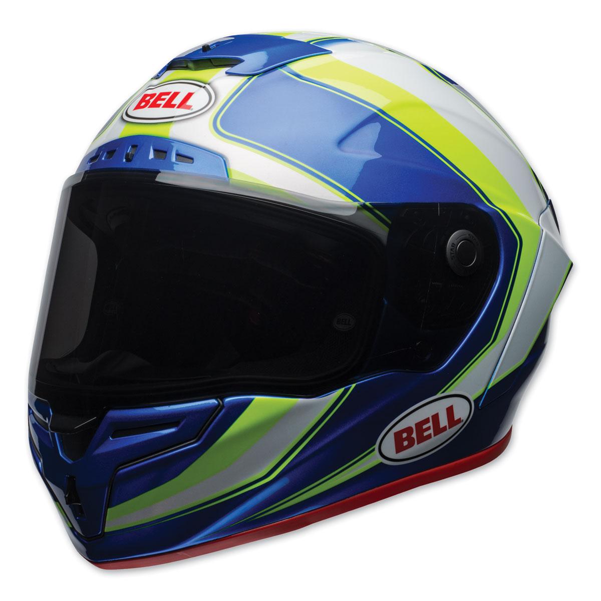 Bell Race Star Sector Blue/Hi-Viz Full Face Helmet