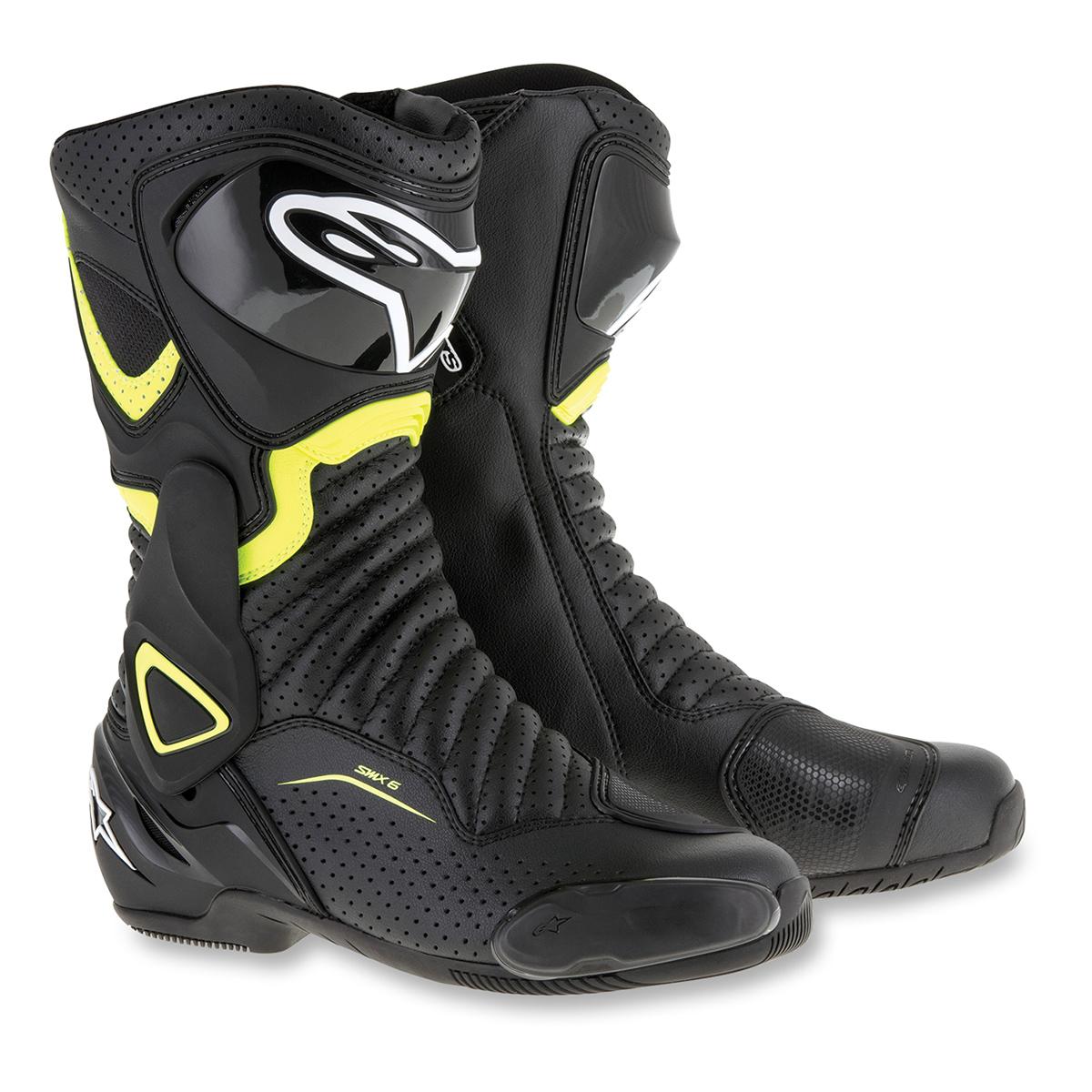 Alpinestars Men's SMX-6 v2 Vented Black/Yellow Boots