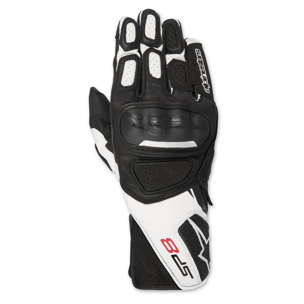 Alpinestars Men's SP-8 v2 Black/White Gloves