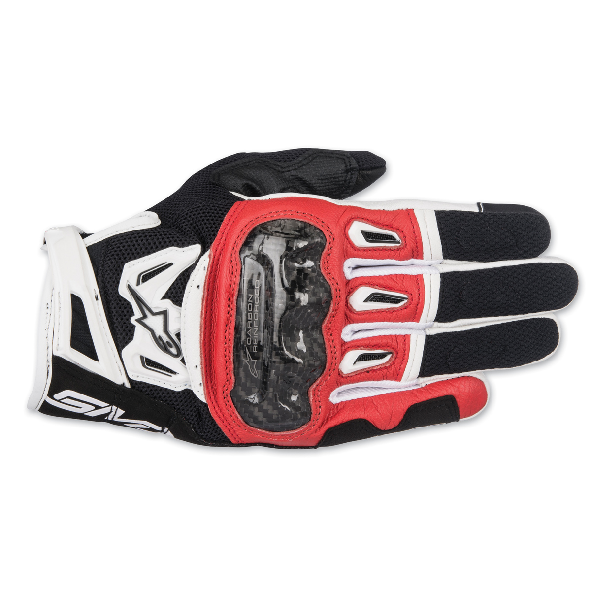 Alpinestars Men's SMX-2 v2 Air Carbon Black/Red/White Gloves