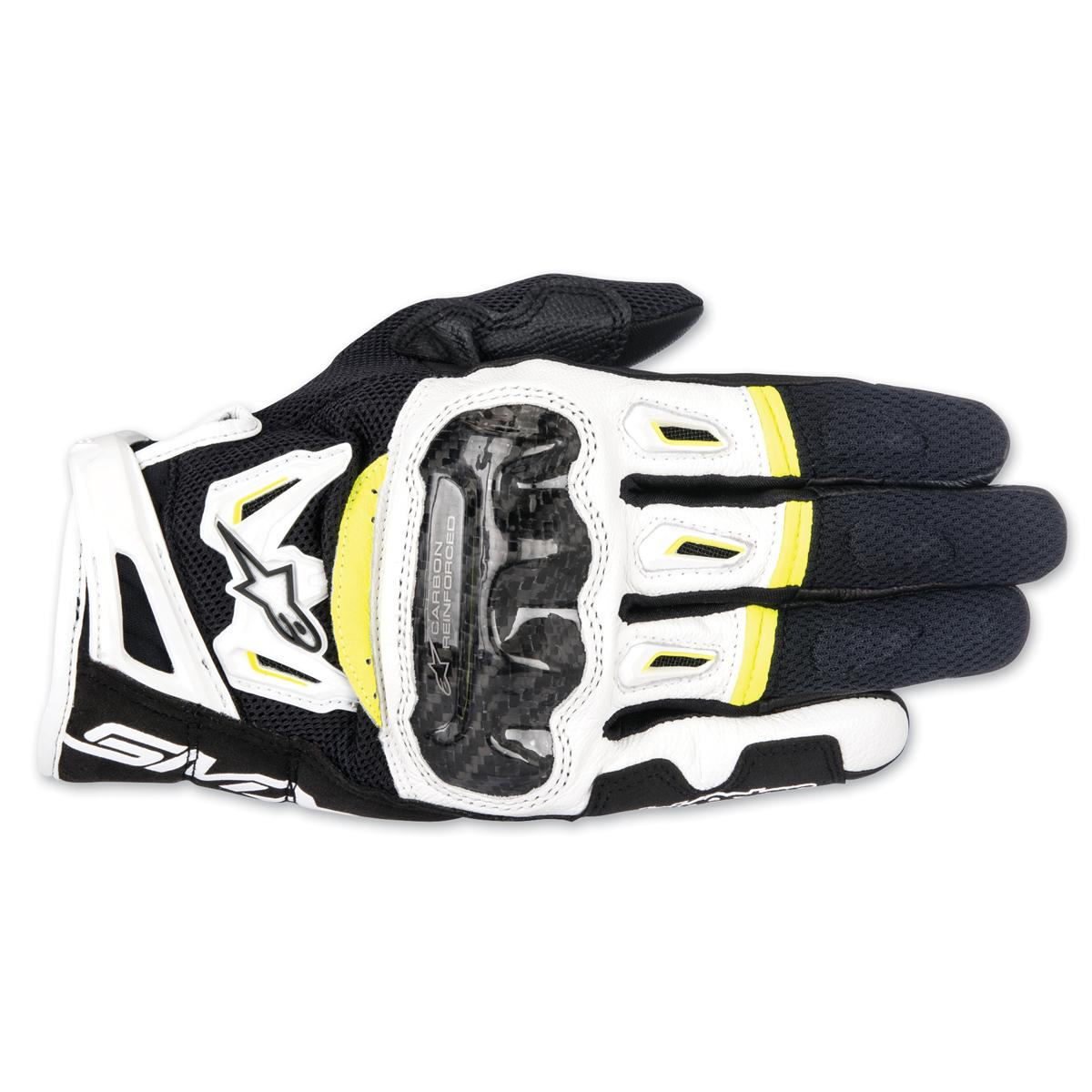 Alpinestars Men's SMX-2 v2 Air Carbon Black/White/Hi-Viz Gloves