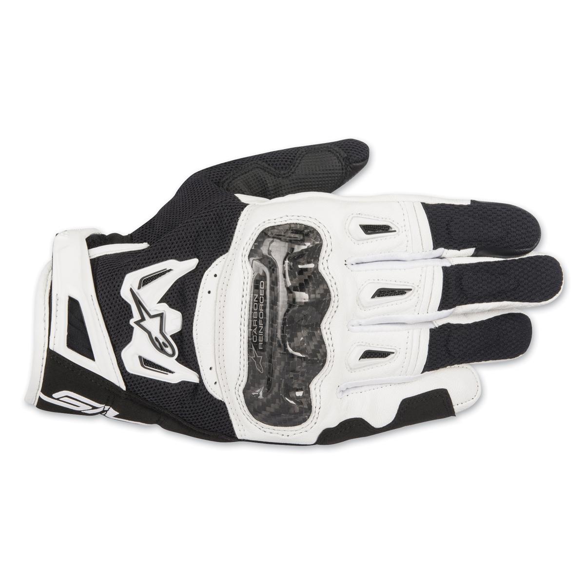 Alpinestars Men's SMX-2 v2 Air Carbon Black/White Gloves