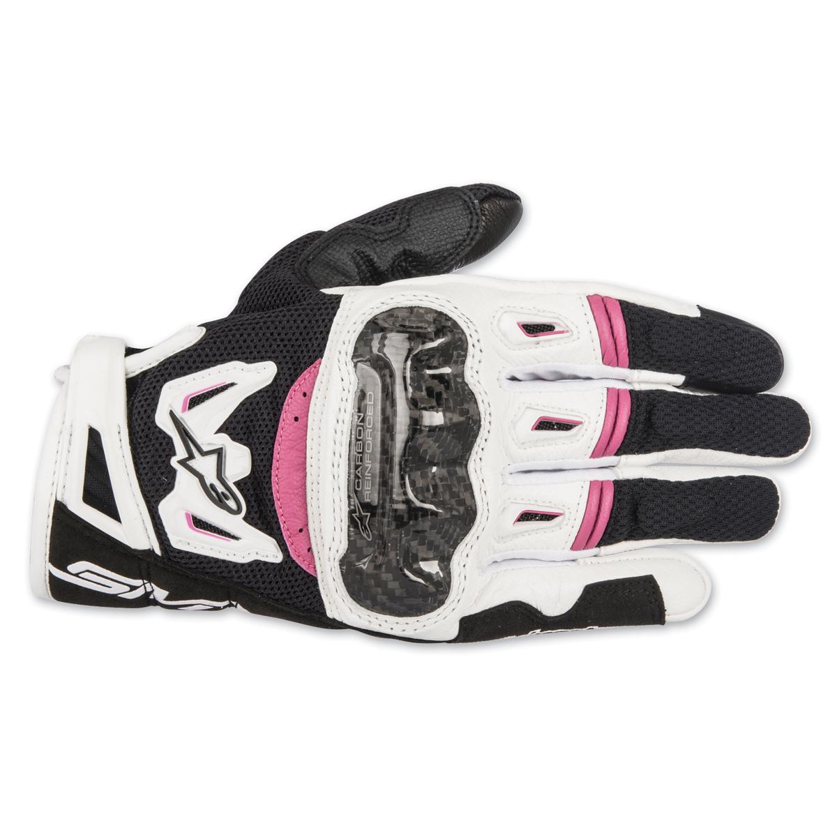 Alpinestars Women's Stella SMX-2  v2 Air Carbon Black/White/Pink Gloves