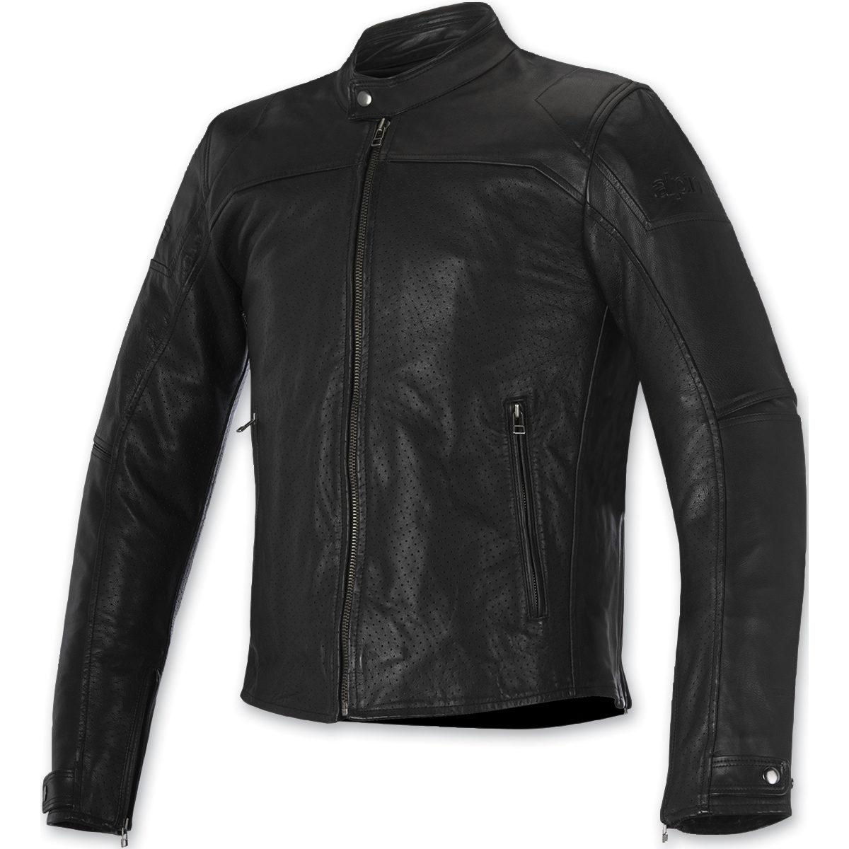 Alpinestars Men's Brera Airflow Black Leather Jacket