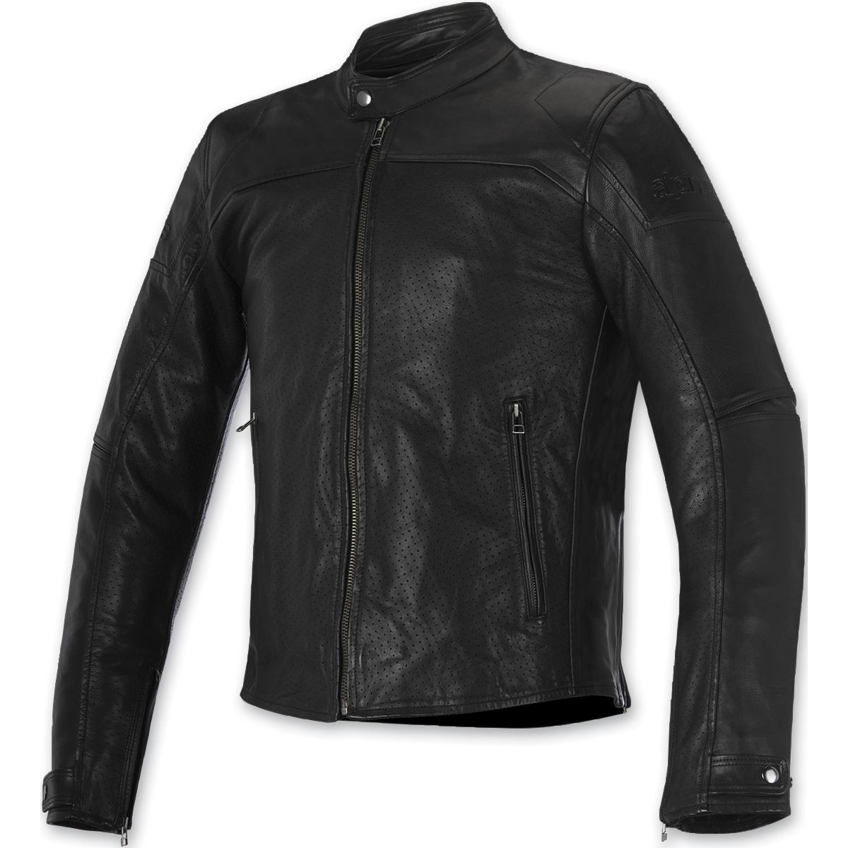 Alpinestars Men's Brera Airflow Black Leather Jacket