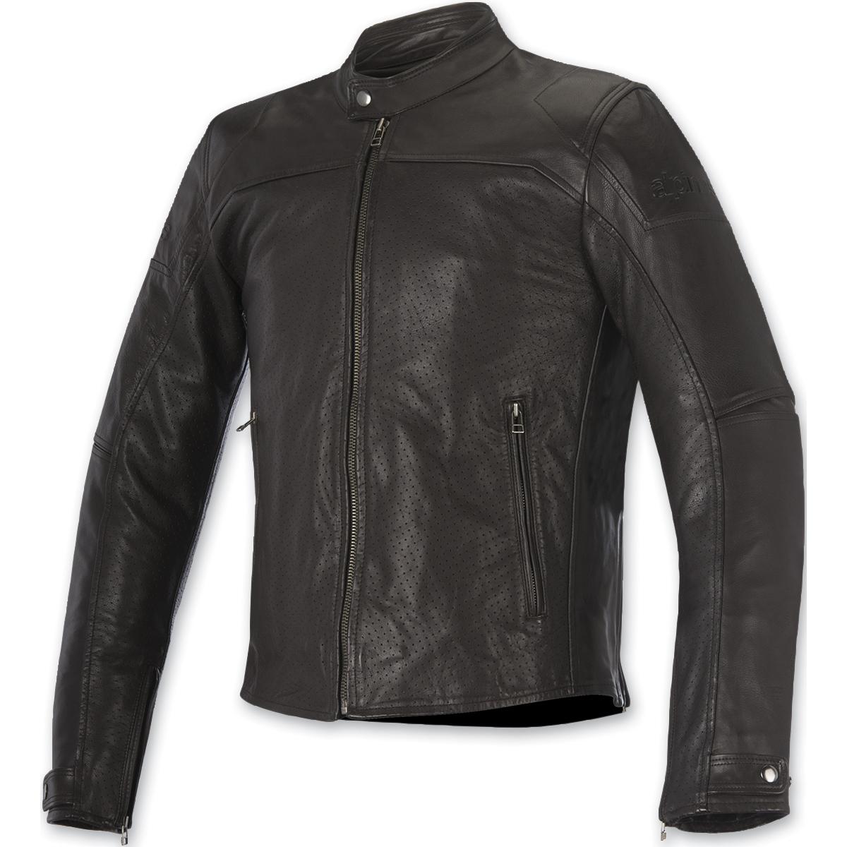 Alpinestars Men's Brera Airflow Tobacco Brown Leather Jacket