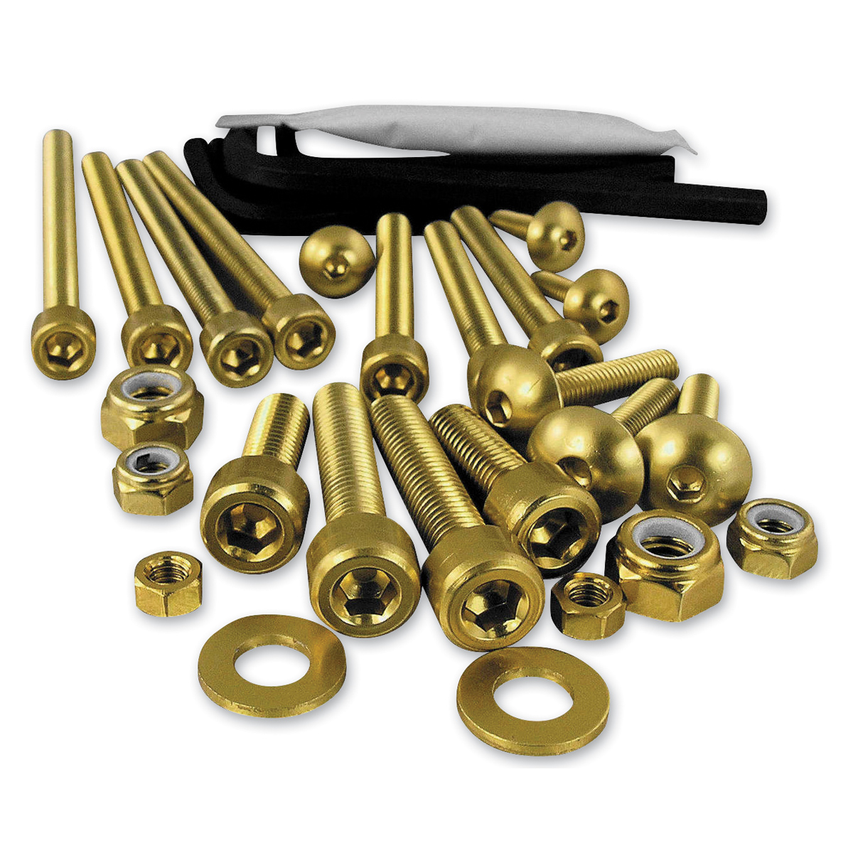 Pro-Bolt 25PC Gold Aluminum Metric Hardware Assortment - WSKIT25-G