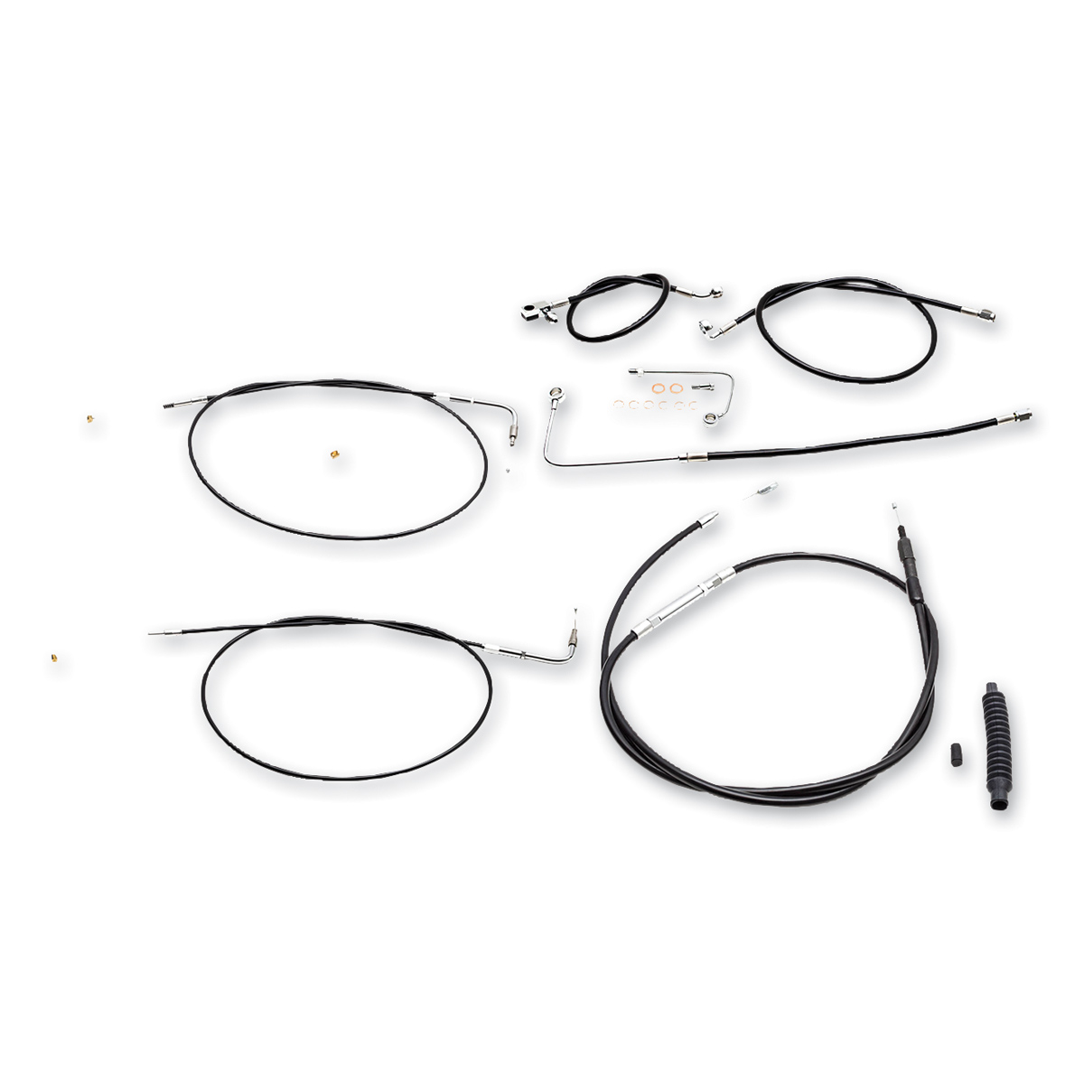 LA Choppers Stainless Steel/Vinyl Cable/Brake Line Kit for 15″-17″ Ape Hangers