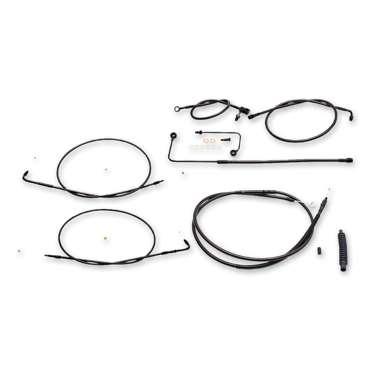 LA Choppers Midnight Cable/Brake Line Kit for 18″ -20″ Ape Hangers