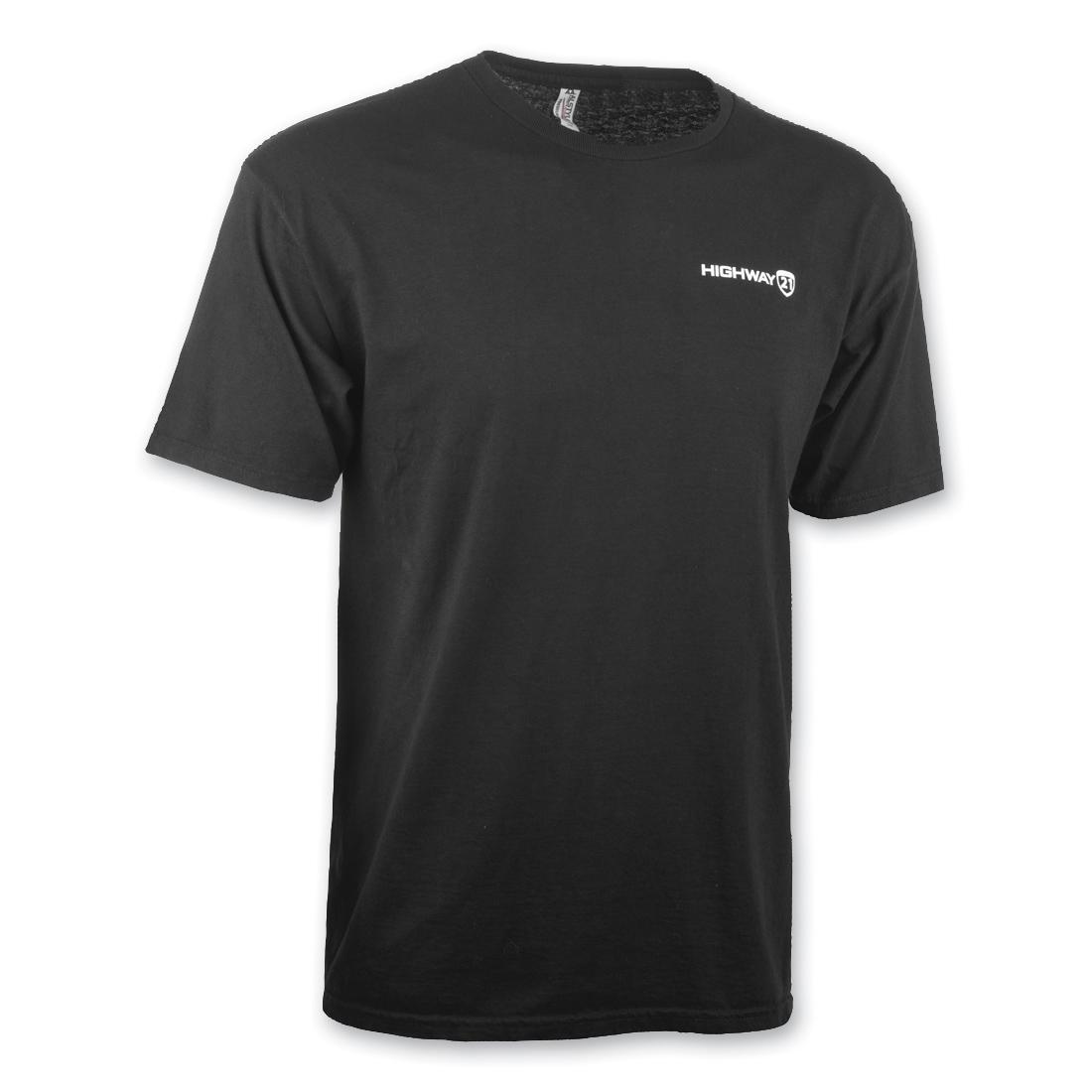 Highway 21 Men's Corporate Black Short-Sleeve T-Shirt