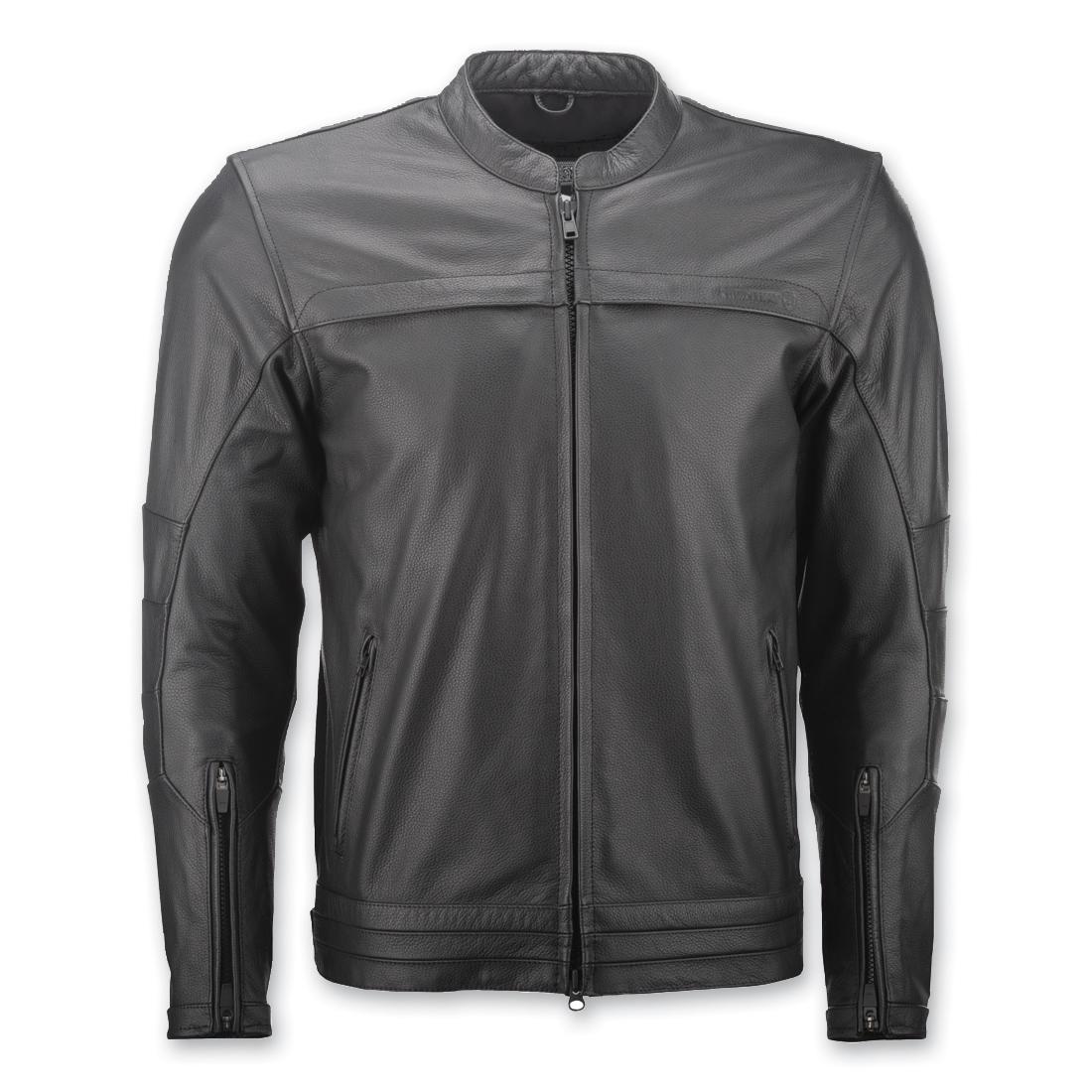 Highway 21 Men's Primer Black Leather Jacket