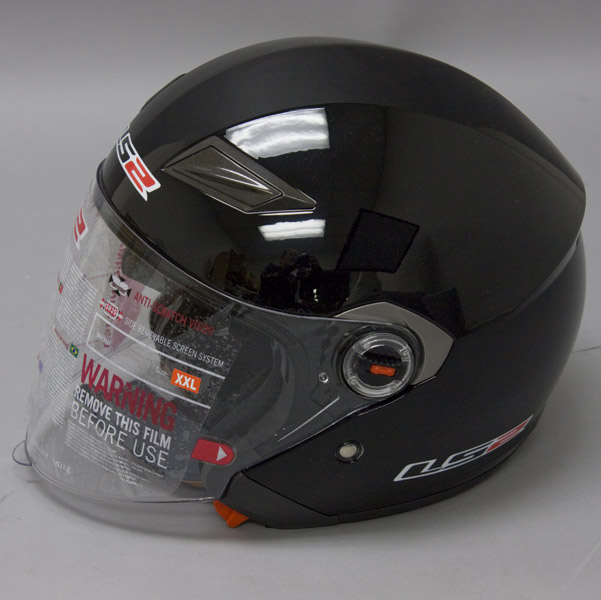 LS2 OF569 Black Open Face Helmet