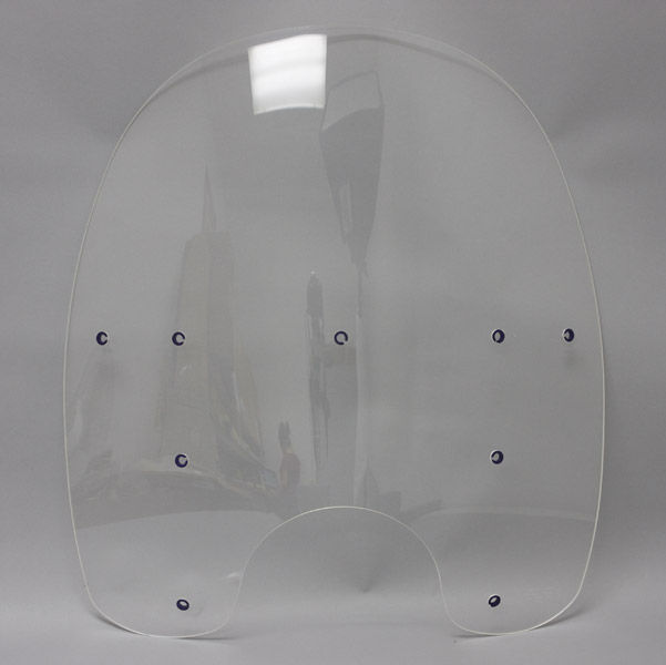 Memphis Shades 19″ Tall Clear Replacement Plastic for OEM Windshield