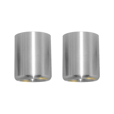 Vortex Silver Bar-End Sliders