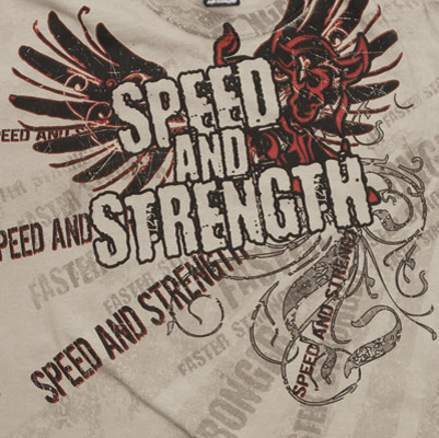 Speed and Strength Men's Sand T-shirt