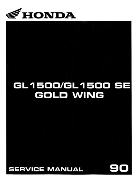 1990 GL1500 Gold Wing Service Manual