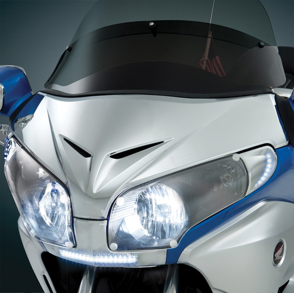 Show Chrome Accessories Chrome Windshield Garnish for GL1800 Gold Wing