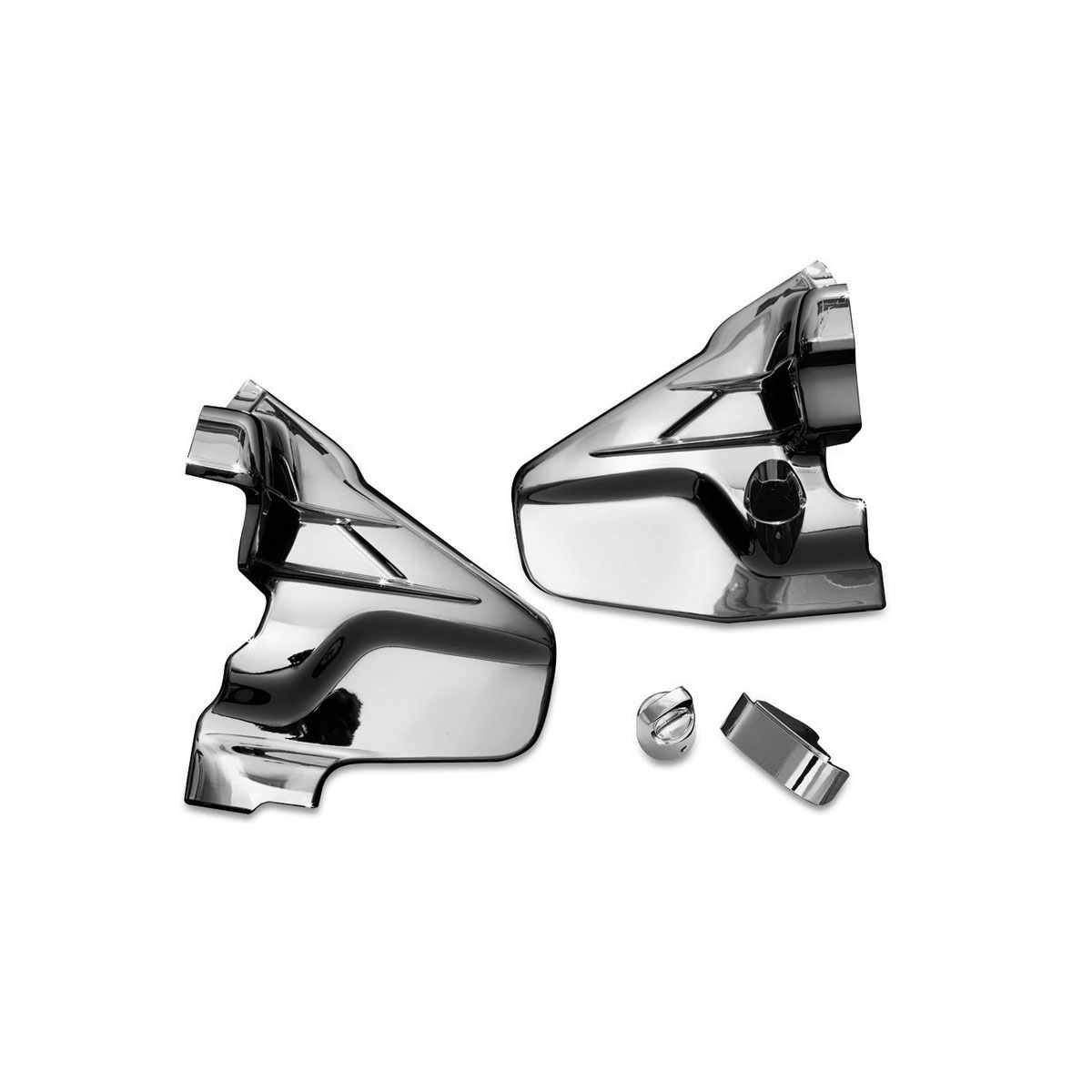 Kuryakyn Louvered Chrome Transmission Covers for GL1800 Gold Wing