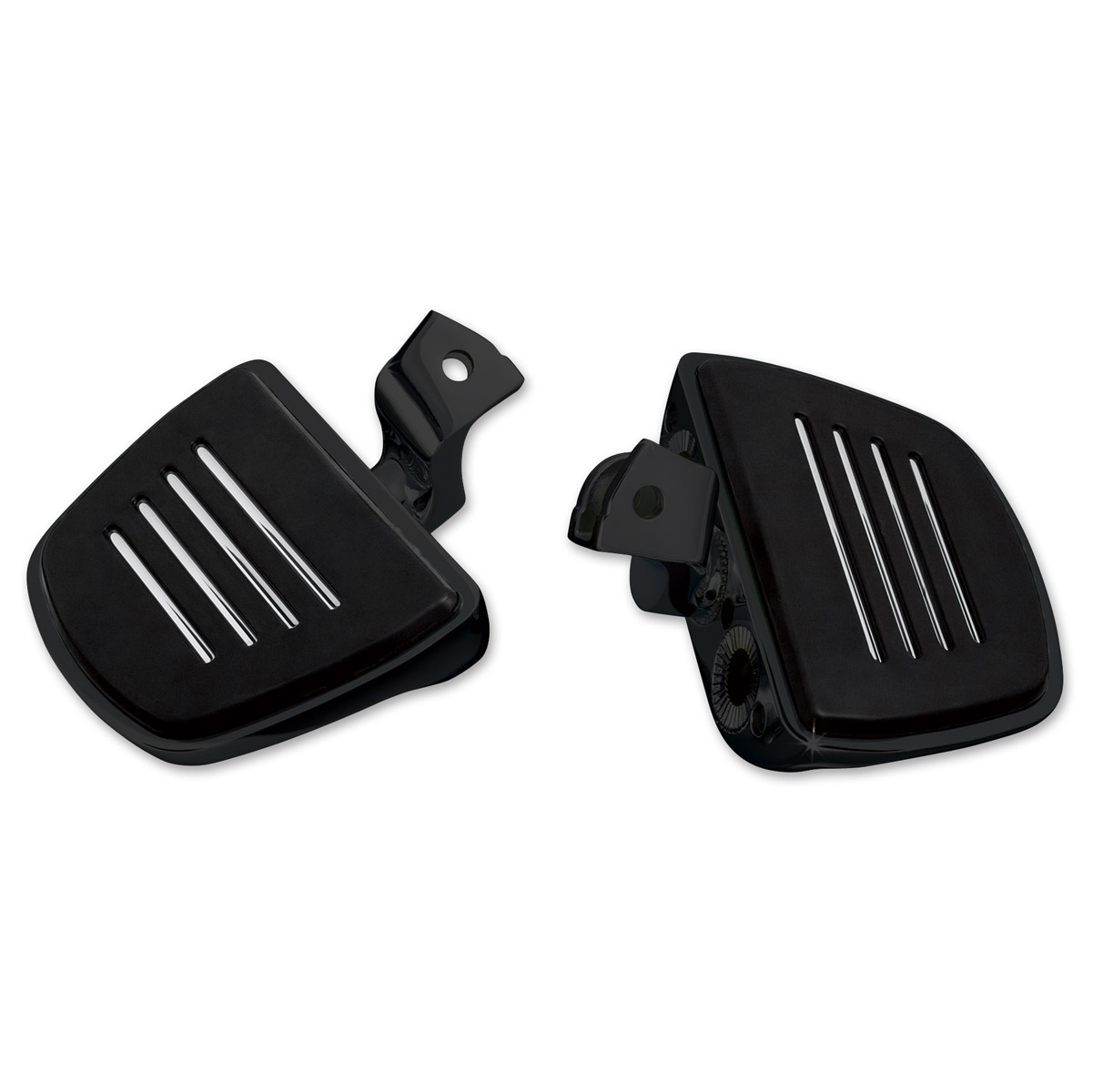Kuryakyn Gloss Black Mini Boards with Comfort Drop Mounts for GL1800 and F6B Gold Wing