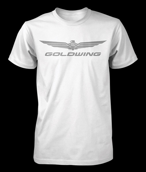 Honda Men's Gold Wing Corporate White T-shirt