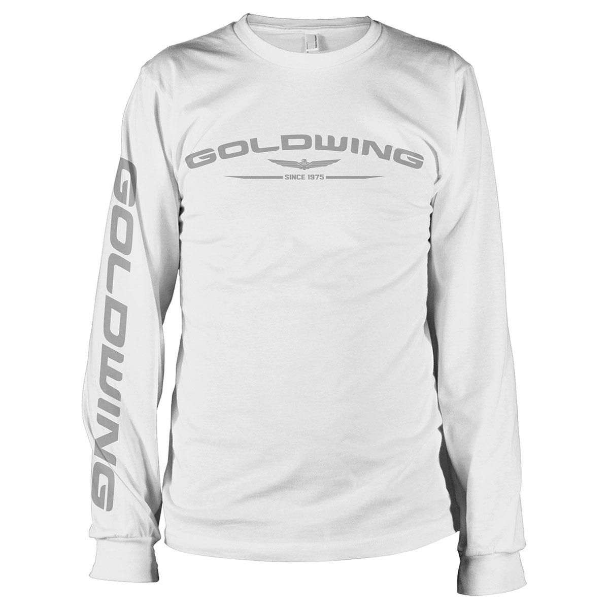 Honda Men's Gold Wing White Long-Sleeve T-Shirt