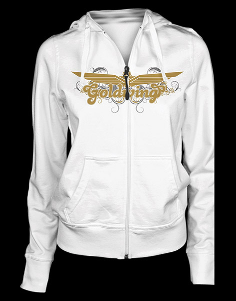 Honda Gold Wing Women's White Posh Zip Hoodie