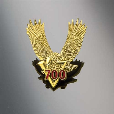 Show Chrome Accessories Embossed Eagle Emblem