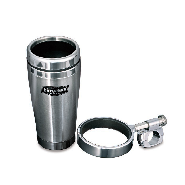 Kuryakyn Universal Drink Holder With Stainless Steel Mug