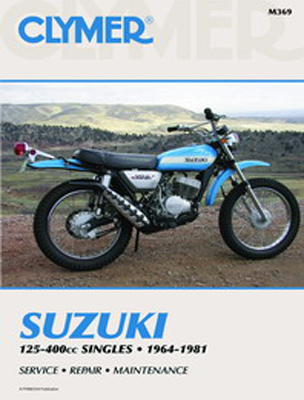 Clymer Suzuki Singles Motorcycle Repair Manual