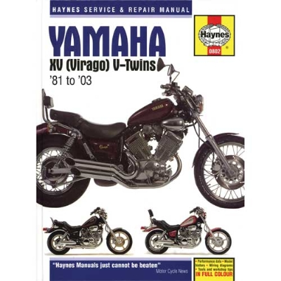 Haynes Yamaha Shop Manual  for 81-03 XY Virago V-Twin, 535cc thru 1063cc