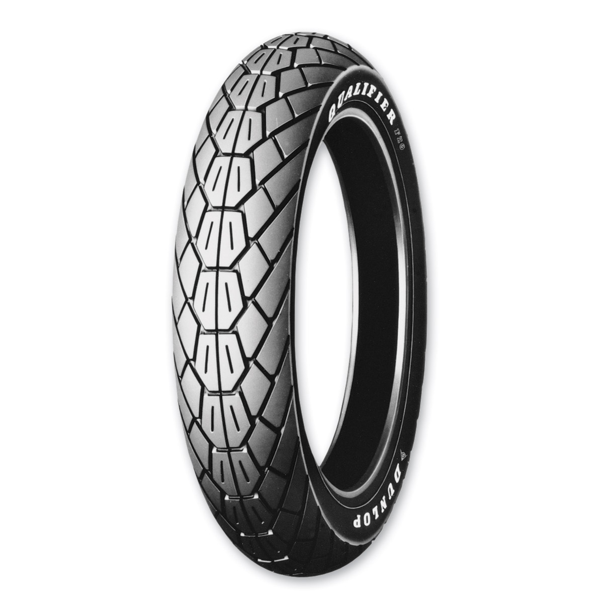 Dunlop f20 qualifier 110 90 18 front tire zz25125 jp for Dunlop white letter motorcycle tires